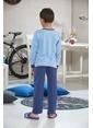 Gizzey Erkek Ç. Pijama Takımı Mavi